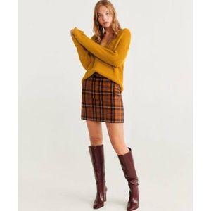 Soft Mustard Yellow Scoop Neck Sweater